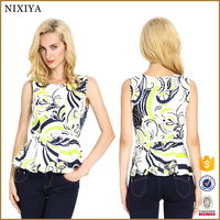 Flower Print Fashion Tank Tops Ladies Cool Summer Tops