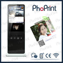 42inch 4g/wifi lcd advertising player custom made wechat instagram boft photo booth kiosk cases oem design with 3D photo printer