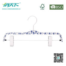 Betterall Blue and White Porcelain Laminated Pant Hanger with Non-slip Clips