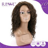 Quality Assured Clean And Soft Yellow Tight Curly Human Hair Full Lace Wig