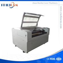 de cuero grabado láser y máquina de corte