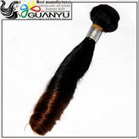 unprocessed wholesale 100% virgin Peruvian hair,ombre color 1b/30 jerry curl Peruvian virgin hair weave