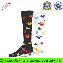 2014 New Design Long High Quality All Over Printed Custom Socks
