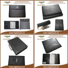 pvc pu leather portfolio with tablet holder