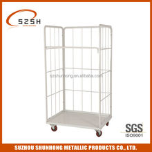 Foldable stackable roll container, roll cage SH-RC02