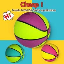 custom logo print pu pvc rubber basketball,size 6 basketball