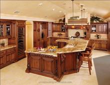 European style modular wood kitchen cabinet, kitchen cabinet plate rack