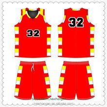 Customized latest custom number basketball men uniform