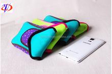 Non woven neoprene assorted durable customize logo phone case for women