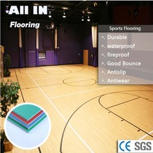 wholesale fire and water resistant pvc plastic sports flooring