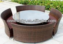 rattan restaurant dinner sets - 4 Bar Stools and Round Table Set