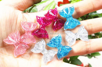 flatback bow shaped cake resin foods for phone decoration