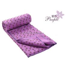 microfiber custom printed soft pure color Yoga blanket