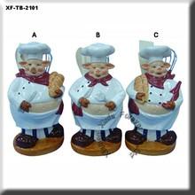 ceramic cook figurine,stool holder,kitchenware
