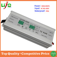 ac90~260V 1500ma constant current 50W waterproof ip66 high quality LED driver for outdoor light CE RoHS sample free