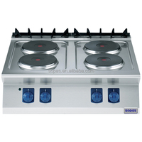 Counter Top Electric Commercial 4 Round Heating Plates Cooktops