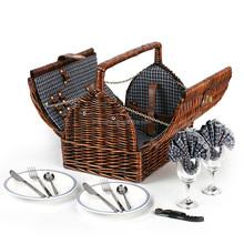 Picnic Time Cutlery Basket Cheap Gift Woven Wholesale Wicker Picnic Basket