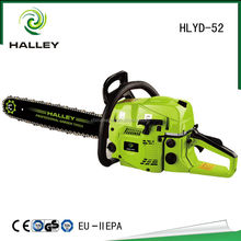 two stroke petrol engine human cutting machine chainsaw 52cc HLYD-52