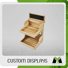 Top level best sell cell retail retail display wood counter