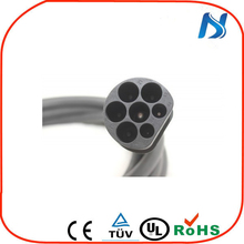 European standards 7 pins EV male charging iec62196-2 type 2 ac connector and plug