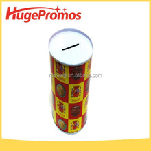 Custom Metal Round Tin Coin Box Containers For Coin Saving