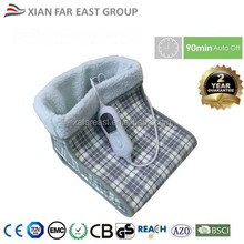 GS CE 100W 3 Heat steps Fast Heating Washable Foot Warmer with Printed Fleece Surface, Foot Warming Boot