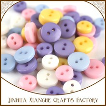 Mixed Color 2-Hole Acrylic Dyed Flat Round/Animal Face Plastic Buttons