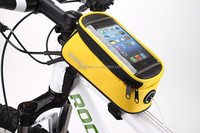 Wholesale new style handlebar mountain bicycle Navigate holder phone case bag 12496S solar bicycle charger bag