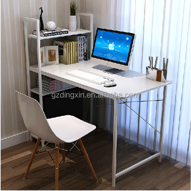 Cheap white furniture wooden computer desk table for for Cheap white living room furniture