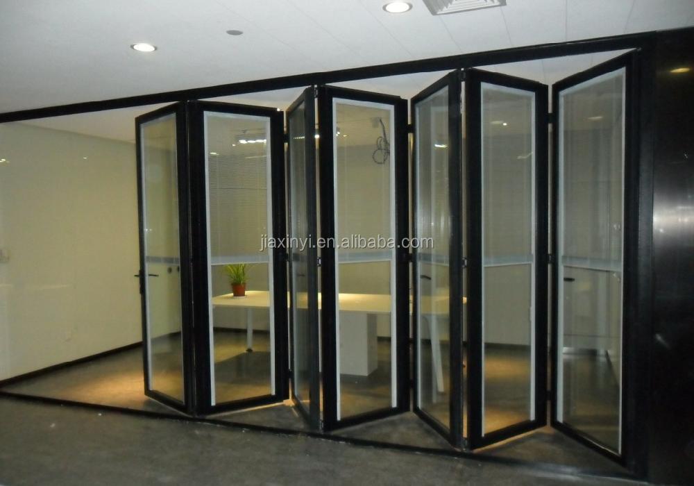 Aluminium Commercial Folding Door Double Glazed Aluminium Windows ...