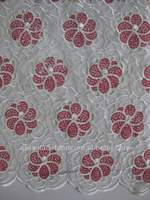Newest High quality embroidery peach organza lace africa French lace