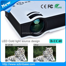 Best quality video projector 800 Lumens 800*480 native 1920x1080 led mini multimedia projector for sale