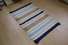 Fashion good modern check design cotton rag rug