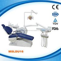 MSLDU16W CE approved 24v noiseless DC motor Multifunctional dental unit dental chair for sale
