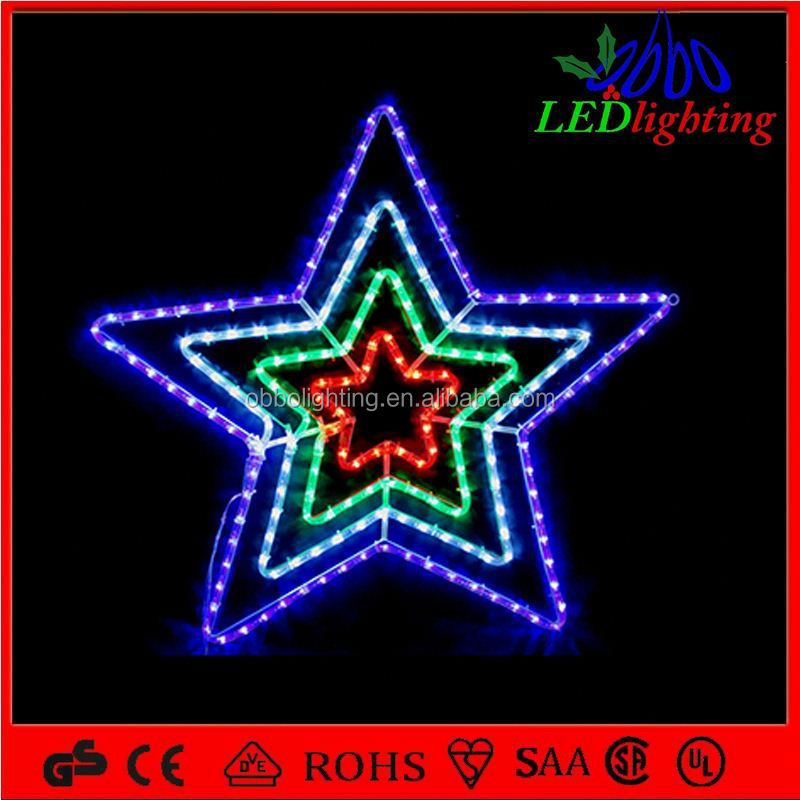 Led holiday decoration motif light led rope light motif for Christmas star outdoor lights decorations