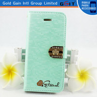 Newest Design Water Cube Leather+TPU Case For Galaxy S3 I9300 Cover With Magnetic Clasp