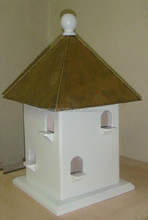 tetragonal bird house of eight hole with metal roof