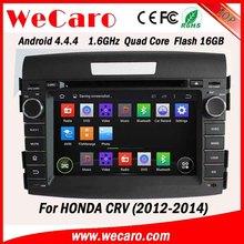 Wecaro android 4.4.4 car gps factory OEM for honda crv 2014 car dvd mirror link 2012 2013