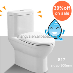 Free standing modern siphonic sanitary toilets bowl #819