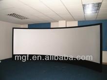"PVC material 4K 3D 92""-400""Black Velvet Curved Fixed Frame Projection Screen"