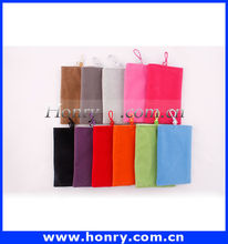 Popular selling fabric for Soft bag,Soft flocking case for mobile phone