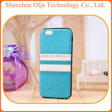 Olja Hot Double Color Korea Leather TPU Cover For IPhone6 Case, For IPhone 6 Leather Case, For IPhone 6 TPU Case
