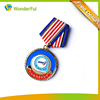 Customized Sport Running Marathon Event Theme Metal Medallion Type Round Color Soft Enamel Running Medal