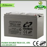 High Power gel batteries 12v 100ah dry cell solar battery