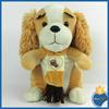 New Design soft baby plush dog toy stuffed dog doll with scarf