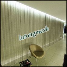 High quality decorative metal coil drapery,ceiling drapery fabric for selling