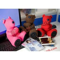 Cute Toy Bear MP3 with TF Card Slot Portable Mini Speaker