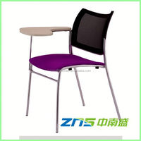 891BY plastic seat mesh back student chair writing tablet