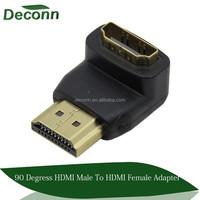 90 degree hdmi male to hdmi female adapter