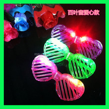 heart shape plastic flashing led glasses